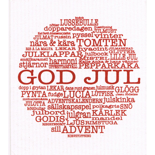 Swedish Dishcloth - God Jul Traditions (87292)