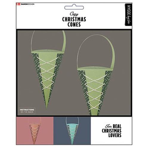 Danish Christmas Cones - Green - 6 pk. (34104)