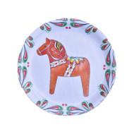 """Dala Horse Round Mini Jewelry Tray - 4.25"""" (86404)"""