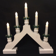 Scandlights Christmas Candelabra - White - Boxed (1990W)