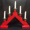 Scandlights Christmas Candelabra - Red - Boxed (1990R)