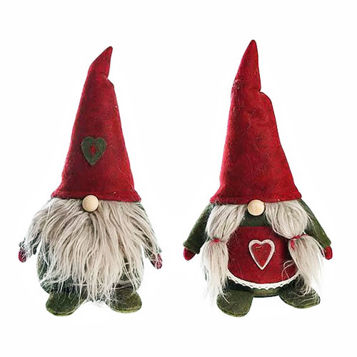 """Tomte Santa and Tomtemor - Set of 2 - 6 1/2"""" Tall (31329)"""