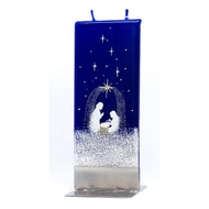 Handmade Decorative Flat Candle - Nativity Blue (F18212)