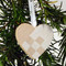 Heart Basket Ornament - Wooden - White (44702W)