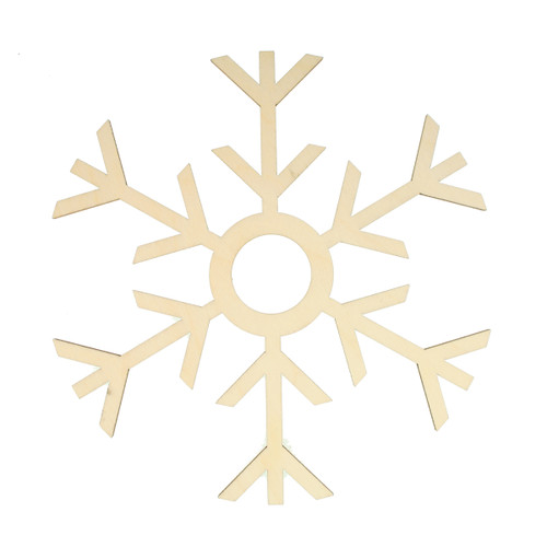 "Candle Ring - Wooden Laser-cut - Set of 2 - Snowflake - 5.5"" (973.70)"