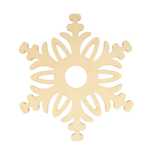"""Candle Ring - Wooden Laser-cut - Set of 2 - Snow Crystal - 5.5"""" (973.71)"""