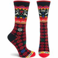 Ozone Socks - Renne Black Unisex Crew - One Size (560503)