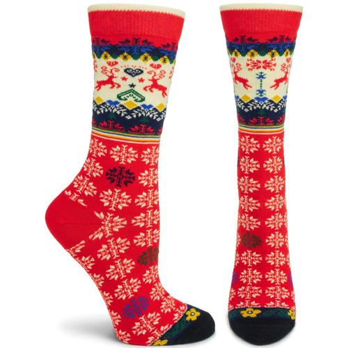 Ozone Socks - Renne Red Ladies Crew - One Size (560502)