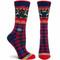 Ozone Socks - Renne Navy Ladies Crew - One Size (560501)