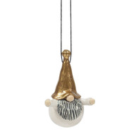 "Tomte Hugo Ornament - Gold - 3.5"" (7771-08)"