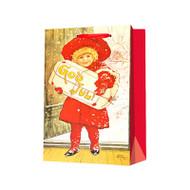 """Christmas Gift Bag - Jenny Nystrom God Jul Girl - 7"""" x 9"""" (67671)"""