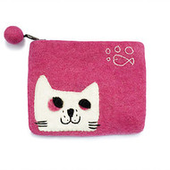 Felt Coin Purse - Cat (F314)