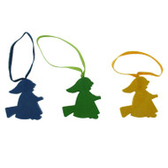 Easter Witches Multi Color Wooden Ornaments - 3 Pack (56556)