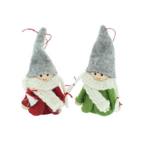 Santa Girls Nordic Gnome Ornaments - 2 Pack (SG-0005)