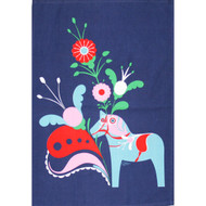 Dala Horse & Kurbits Kitchen Towel - Blue (85366)