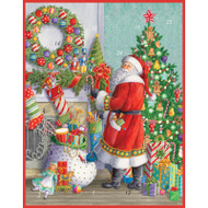Santa at the Mantle Advent Calendar Greeting Card - 1 Card & 1 Envelope (ADV274C)