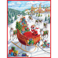 Santa's Sleigh Advent Calendar Greeting Card - 1 Card & 1 Envelope (ADV267C)