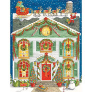 Home for Christmas Advent Calendar Greeting Card - 1 Card & 1 Envelope (ADV269C)