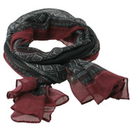 Marius Scarf - Black, Red and White - 180 cm x 80 cm (451967)