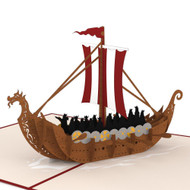 "Viking Ship 3D Pop Up Card - 5""x7"" (LP1243)"