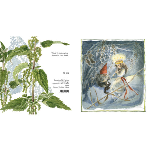 Lucia and Tomte Duet Christmas Card (104)
