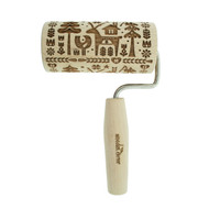 "Handled Embossing Roller - Wooden - 6.5"" - Forest Holiday (HEP-042)"