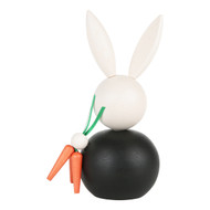 Pupujussi Bunny with Carrots - Black (B6911)