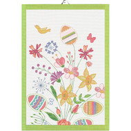 Ekelund Tea/Kitchen Towel - Paskbukett - Easter Bouquet (Paskbukett)
