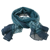 Copy of Marius Scarf - Petrol, Blue and White (451966)