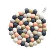 Wool Trivet/Pot Mat - Pastel (1392)