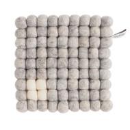 Wool Trivet/Pot Mat Square - Raw Grey (1003)