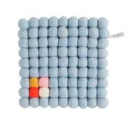 Wool Trivet/Pot Mat Square - Arctic Blue (1005)