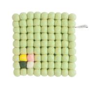Wool Trivet/Pot Mat Square - Pale Green (1006)