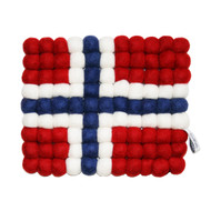 Wool Trivet/Pot Mat - Norwegian Flag (1499N)