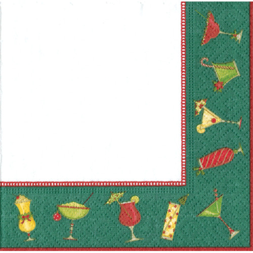 Christmas Cocktails Cocktail Napkins - 20 Pk (13370C)