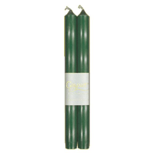 "Caspari Duet Candles - Hunter Green - 10"" (CA13.2)"