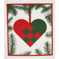 Swedish Dishcloth - Woven Heart (218.17)
