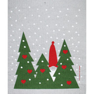 Swedish Dishcloth - Tomte in Forest (218.19)