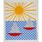 Swedish Dishcloth - Sailboats and Sun (218.39)