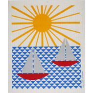 Swedish Dishcloth - Sailboats and Sun (218.39)