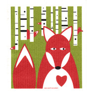 Swedish Dishcloth - Fox in Birches (218.62)