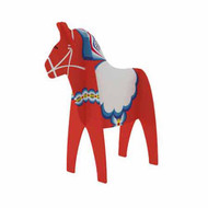 Dala Horse Standing Card - Red (275.01)