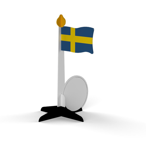 Sweden Flagpole Standing Card (275.13)