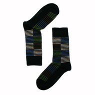Bengt & Lotta Socks - Bengt - Men's - Black - merino wool/cotton blend (710708)