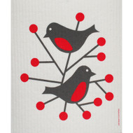 Swedish Dishcloth - Birds Red (211R)
