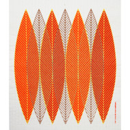 Swedish Dishcloth - Blade Leaves Orange (218.41O)