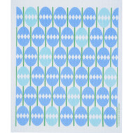 Swedish Dishcloth - Easter Eggs Mosaic Blue (218.56B)