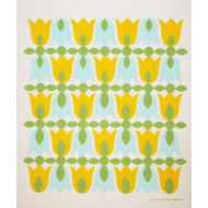 Swedish Dishcloth - Tulip Blossoms - Yellow (218.92Y)