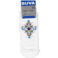 SUVA Low cut Socks - Floral White (8266W)
