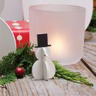 Festive Snowmen Decoration - Set 0f 8 - Wooden (8813301)